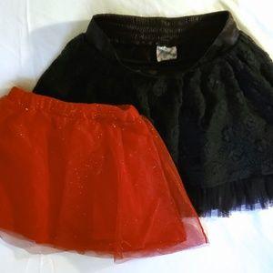 Girls Size 6 skirts